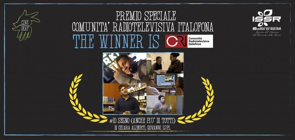 WINNER - premio speciale CRI